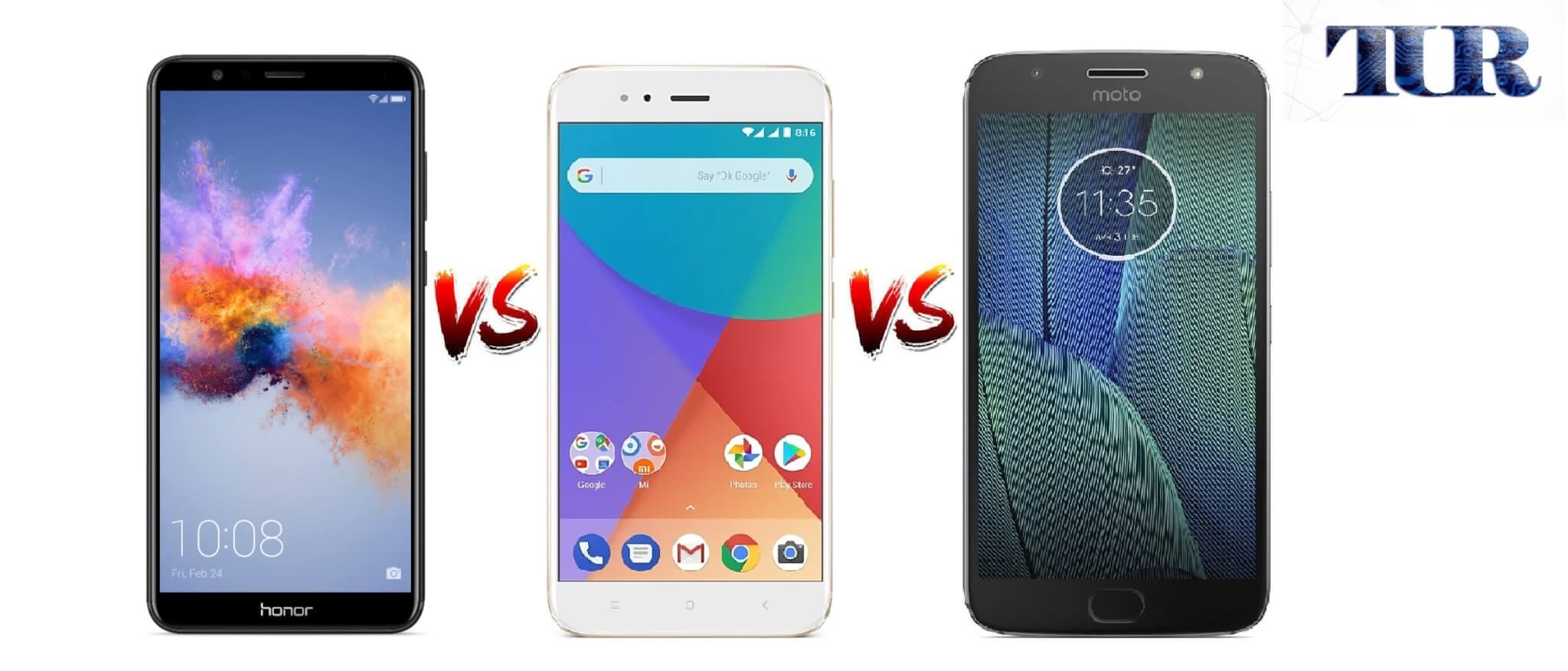 Xiaomi MI A1 vs Honor 7X vs Moto G5S Plus Detailed