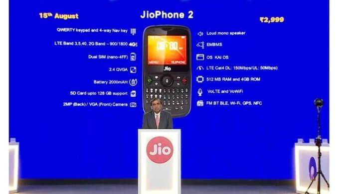 Reliance, Reliance Jio, JioPhone, JioPhone 2, RIL AGM, JioPhone 2 price, JioPhone 2 features, JioPhone 2 specs, JioPhone 2 whatsapp