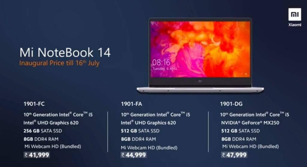 Mi Notebook 14 horizon edition, mi notebook price